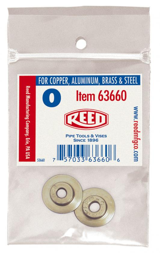 63666-2PK-345T Tubing Cutter Wheels for Copper Aluminum 2-Pack Reed Mfg