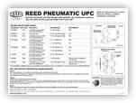 UPC Pneumatic Motor Maintenance and Lid Sticker