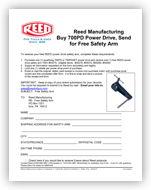 700PD Safety Arm Redemption Form