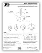 Clean Ream Extreme Plastic Pipe Fitting Reamers Instructions