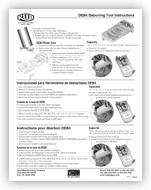 DEB4 Deburring Tool Instructions