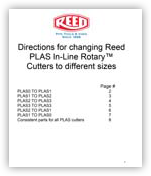 Change PLAS Cutter to Different Sizes
