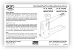 Hydrostatic Test Pump Instructions