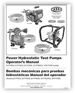DPHTP & EHTP Power Hydrostatic Test Pump Operator's Manual